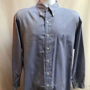 Ralph Lauren blue dress shirt Yarmouth cotton
